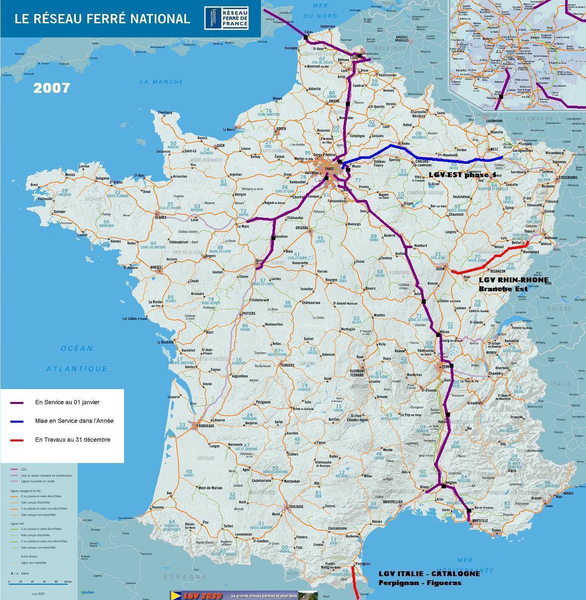 Carte Ferroviaire Deurope.Compagnie Lgv2030 Page 0