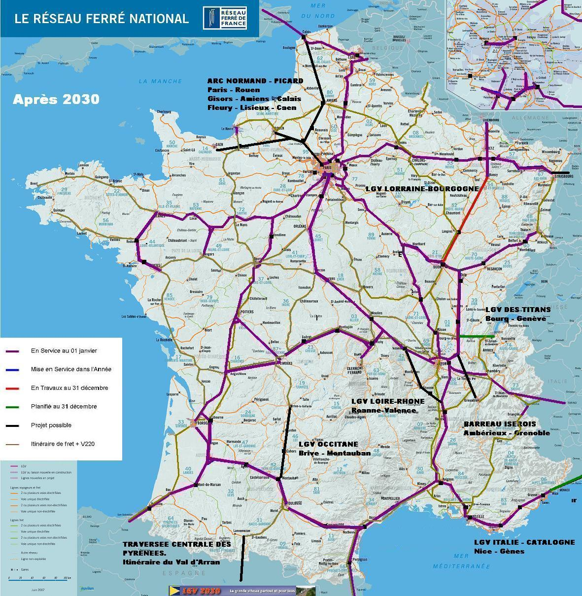 carte de france ferroviaire